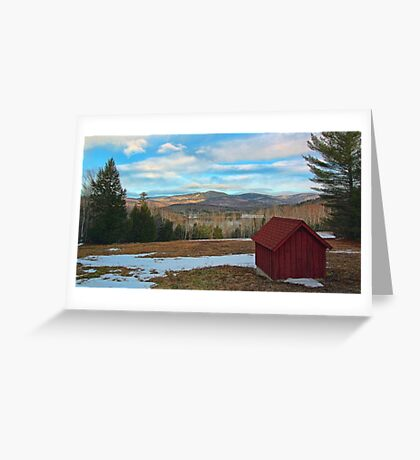 View of Kezar Lake & The Foothills Greeting Card