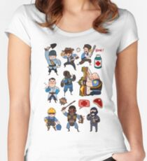Team Fortress 2 / SD All Class Women's Fitted Scoop T-Shirt