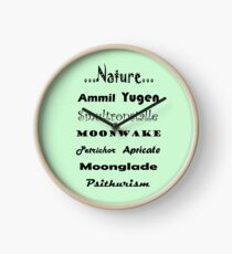 For the love of Nature - Psithurism, Smultronställe, Petrichor, Apricate, Moonglade, Ammil, Yugen, Moonwake Clock