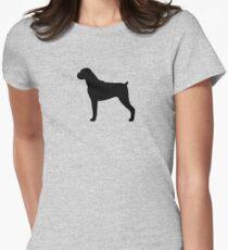 Camiseta entallada para mujer Silueta del perro Boxer (s)