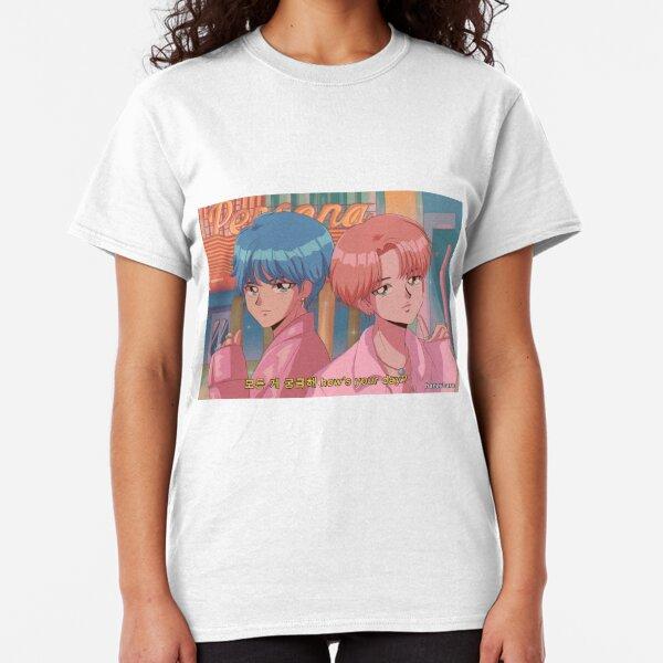 BTS V & JIMIN - Boy with luv 90's anime Classic T-Shirt