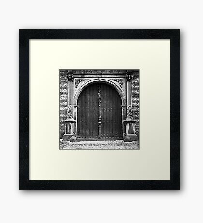 Dusted with snow Framed Print