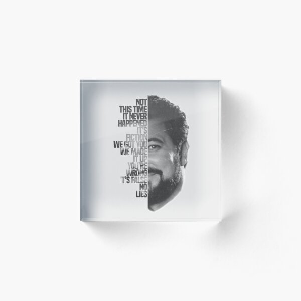 Jonathan Frakes Typography Acrylic Block