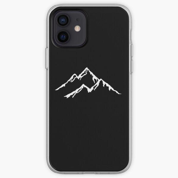 Ski Les Montagnes Montagne Ski Snowboard Snowboard Silhouette Coque souple iPhone