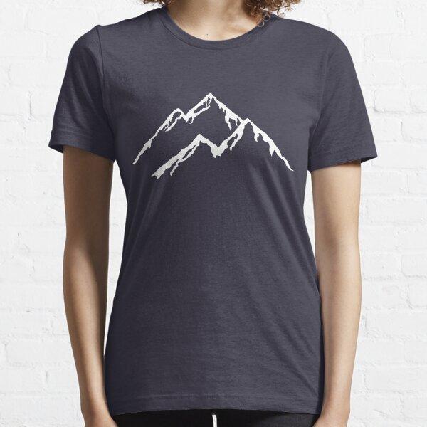 Ski The Mountains Mountain Skiing Snowboard Snowboarding Silhouette Essential T-Shirt