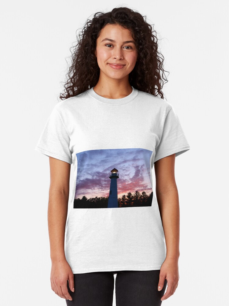 Alternate view of Lighthouse Michigan Classic T-Shirt