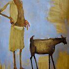 Boy and Goat by oliviamae