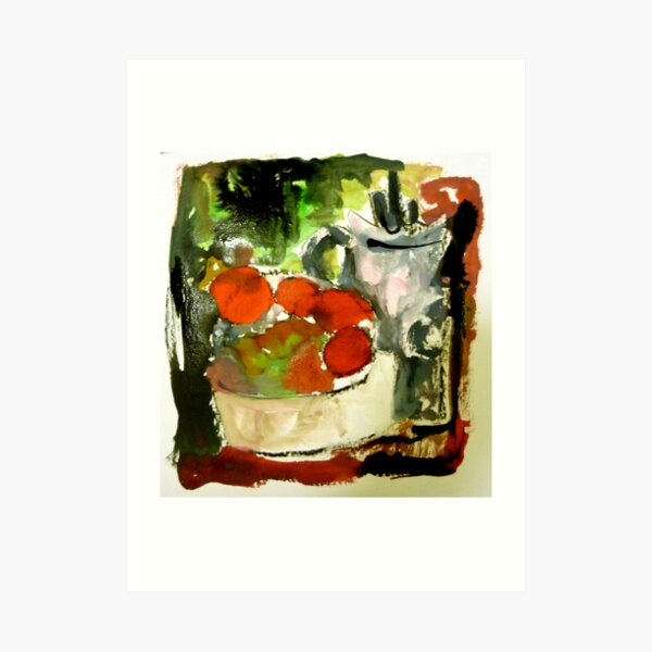 tomatoes and pot Art Print