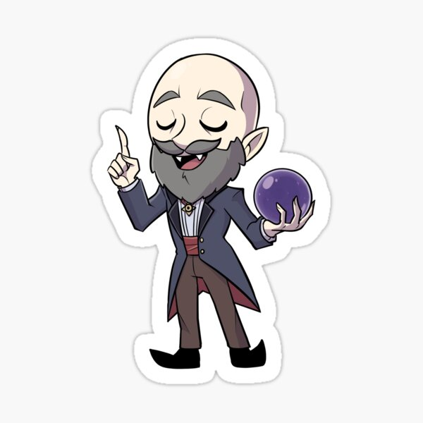 Nostradamus the vampire sticker 1 Sticker