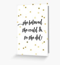 Inspirational greeting cards redbubble she believed she could so she did greeting card m4hsunfo