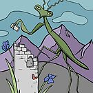 Praying Mantis Builds A Tower  by Otter-Grotto