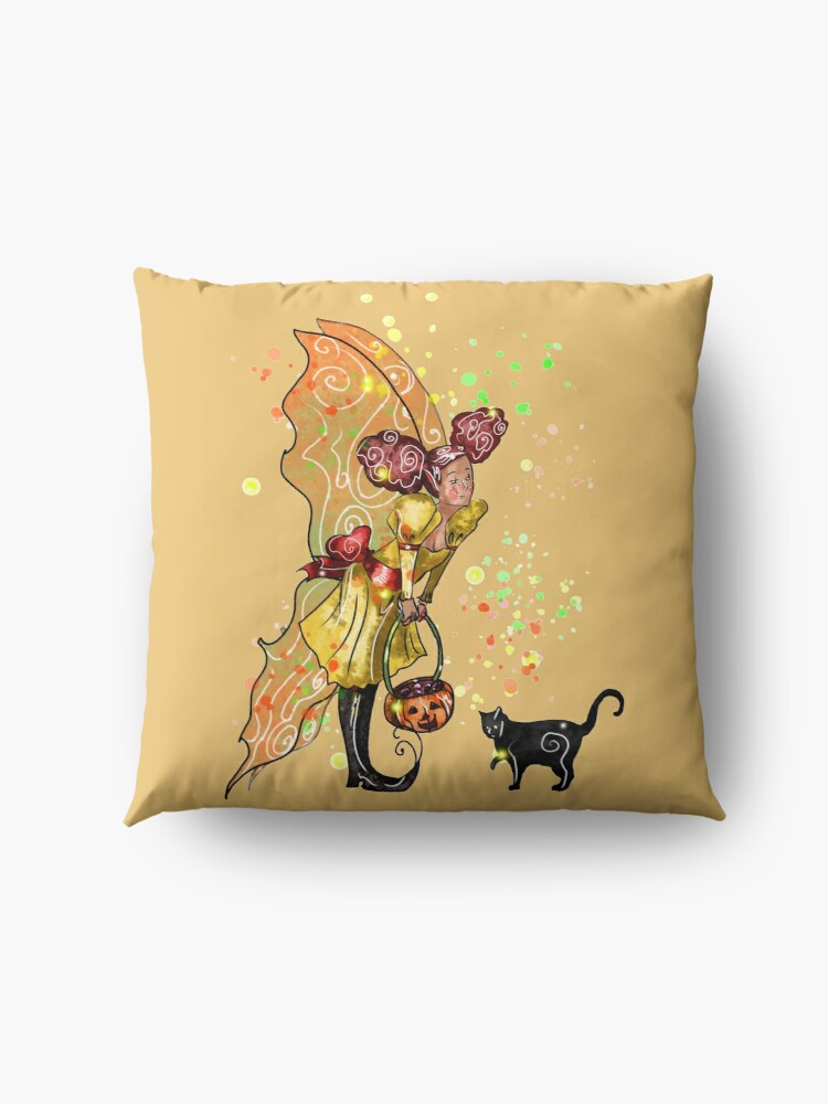 Alternate view of Fairy Trixie-Love The Trick or Treat Fairy™ Floor Pillow