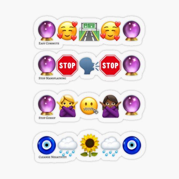 Emoji Spell Set for Life and Work Transparent Sticker