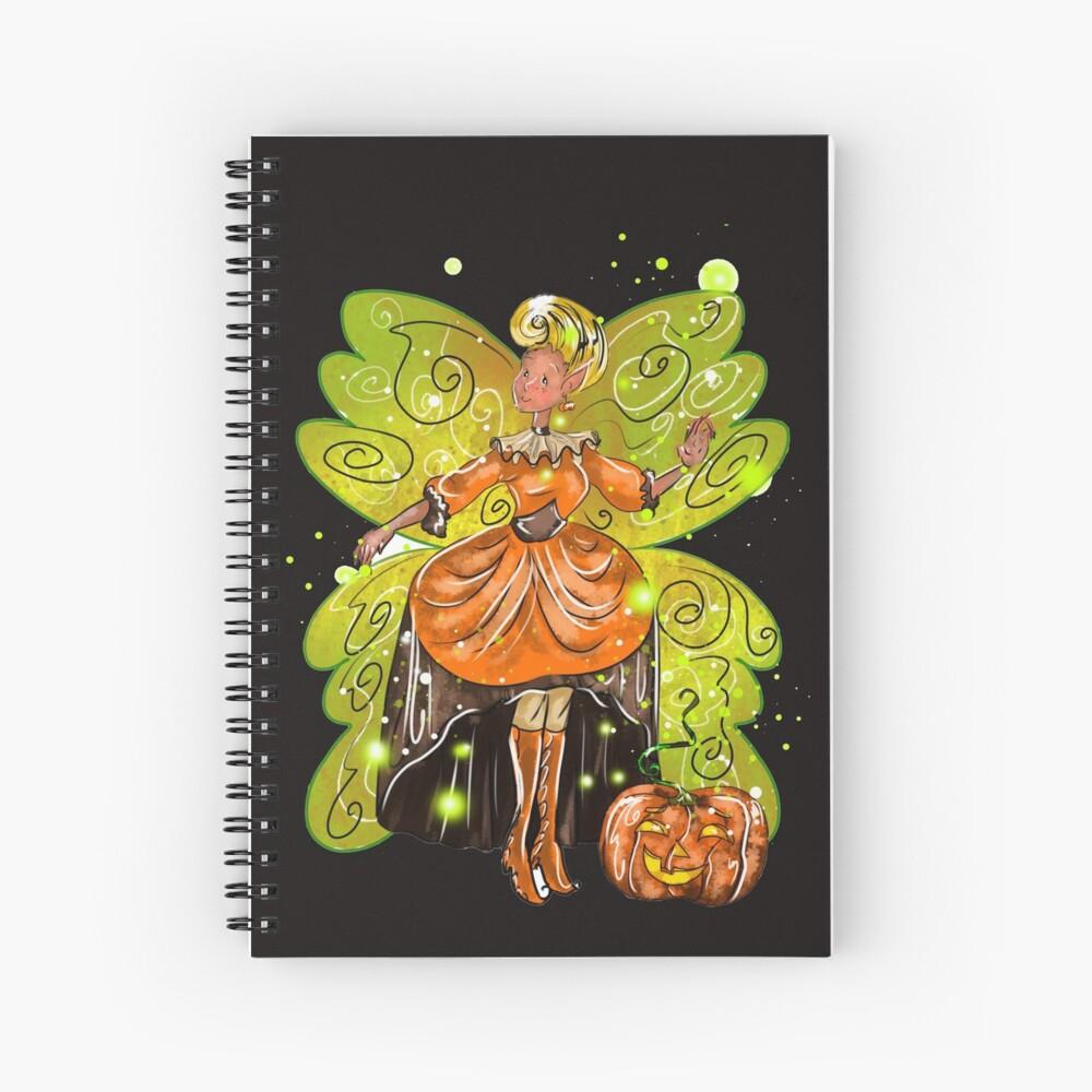 Hallie's Fairy Halloween Holiday Store™ Spiral Notebook