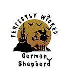 German Shepherd in Halloween by ceciliamart