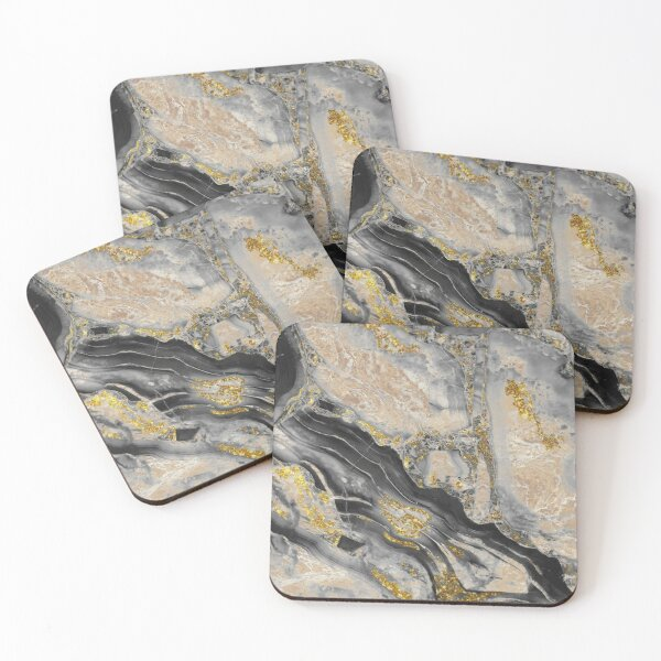 Cool Marble Coasters (Set of 4)