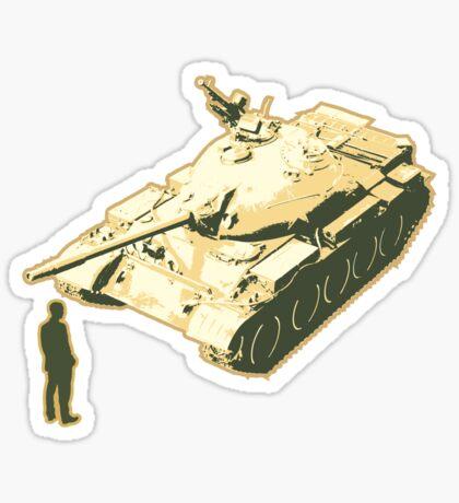 Tank Man AKA The Unknown Rebel Sticker