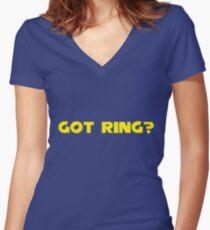Got Ring? Women's Fitted V-Neck T-Shirt