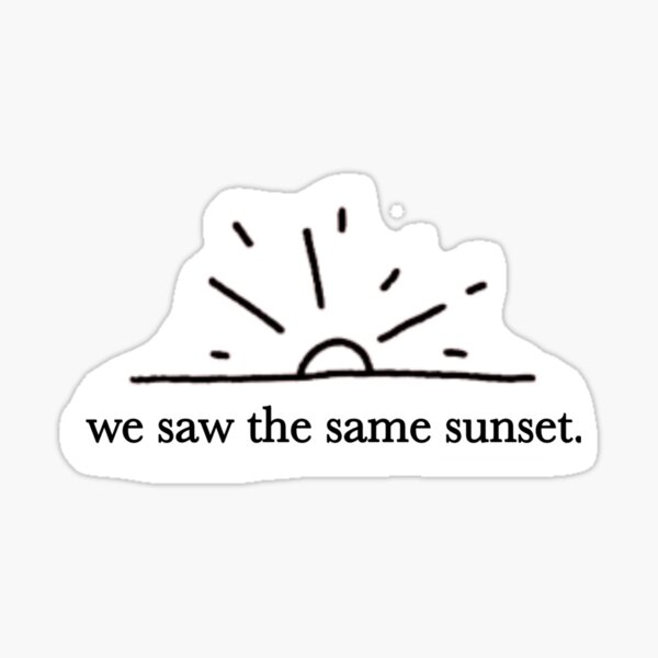 The Outsiders - We saw the same sunset Sticker