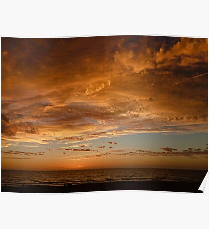 Another day over - Ocean Reef, Perth, Western Australia Poster