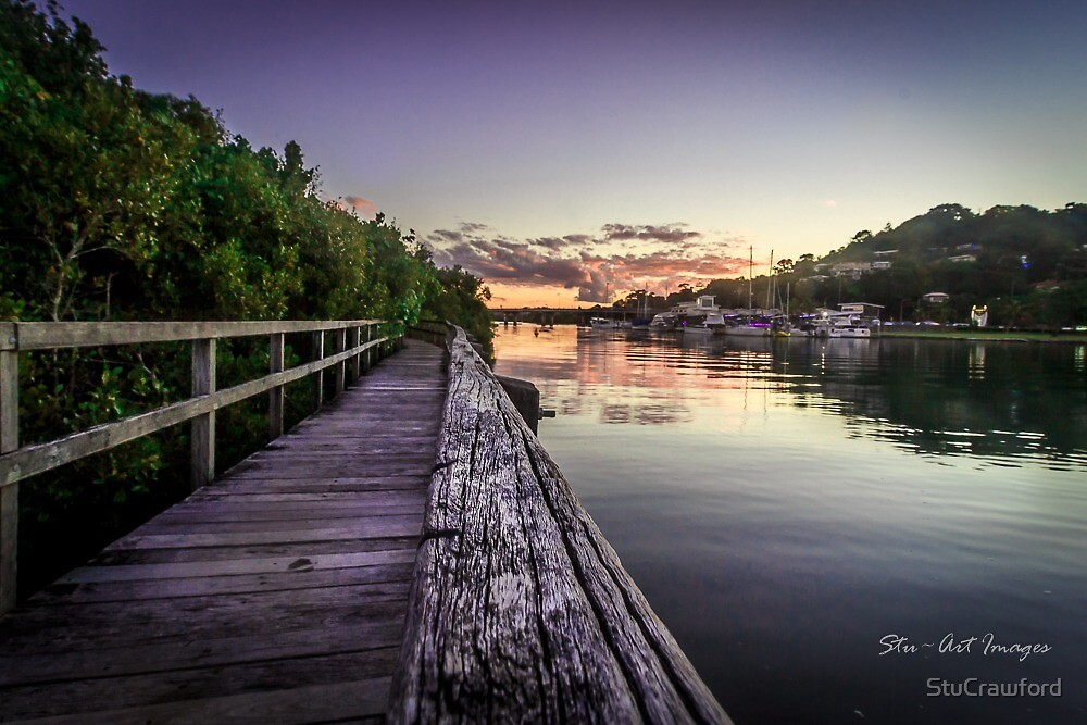 Walkway to the sunset by StuCrawford