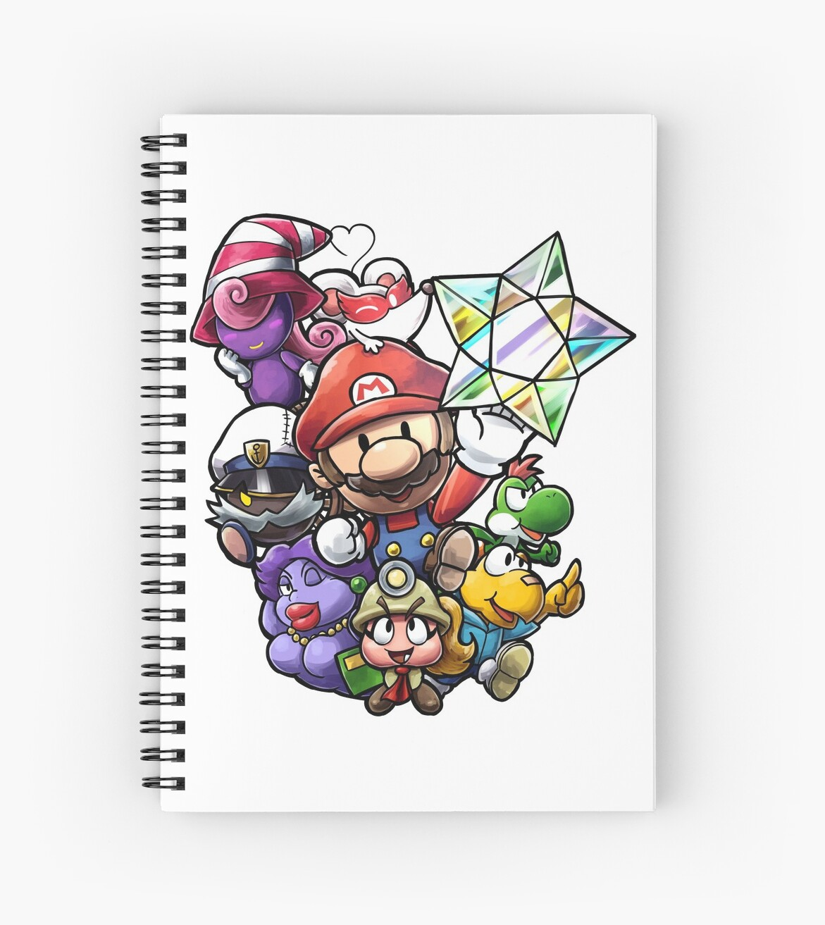 Quot Paper Mario The Thousand Year Door Quot Spiral Notebook By