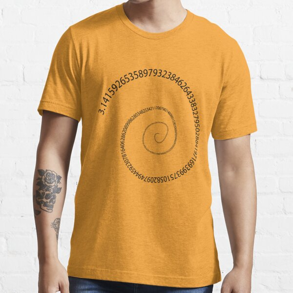 black pi spiral Essential T-Shirt