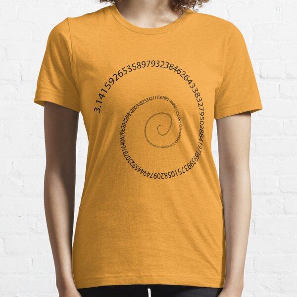 black pi spiral Essential T-Shirt