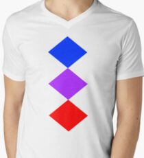 Diamonds Shirt Men's V-Neck T-Shirt