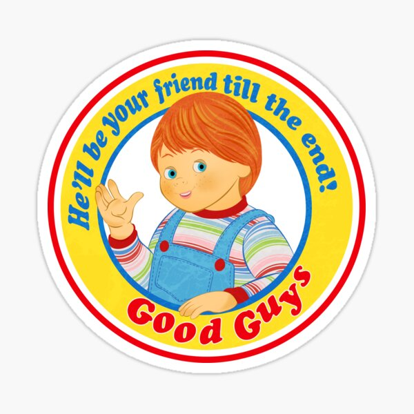 Vintage Chucky Child's Play Good Guys Pegatina