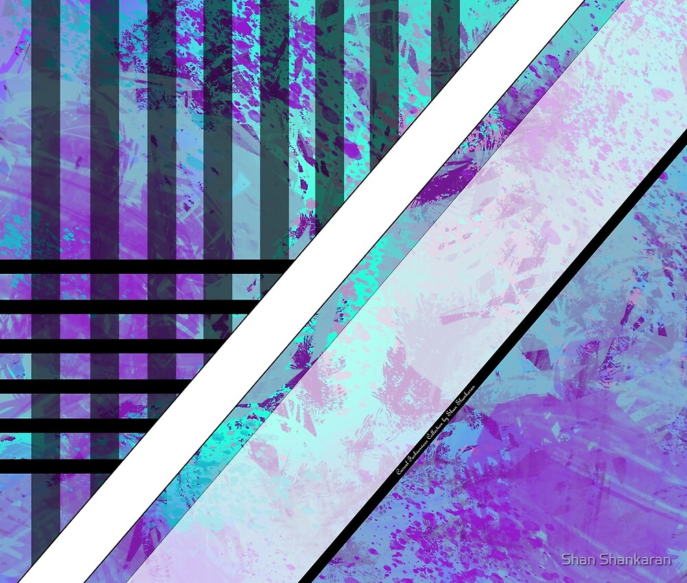 Splattered Paints Light Blue Purples Plaid FashionWear Design  by Shan Shankaran