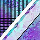 Splattered Paints Light Blue Purples Plaid FashionWear Design  by Shan Shankaran