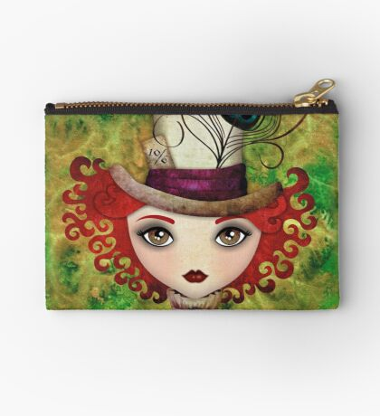 Lady Hatter Zipper Pouch