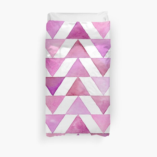 Rose Triangles Watercolour Pattern Duvet Cover
