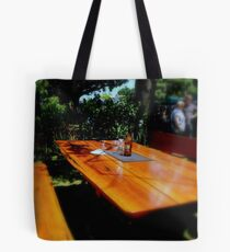 red gum table Tote Bag