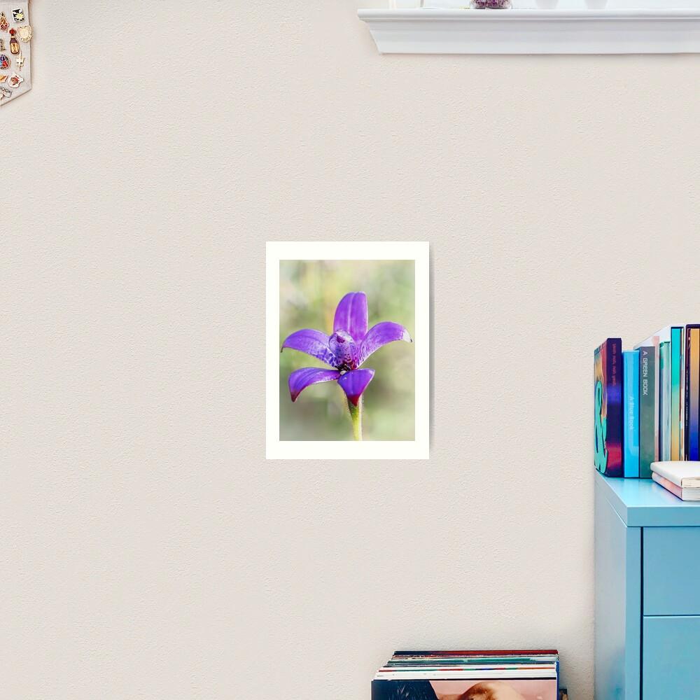 Purple Enamel Orchid Art Print