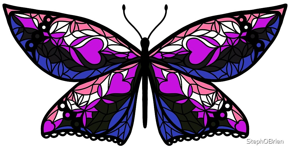 Fly With Pride: Genderfluid Flag Butterfly by StephOBrien