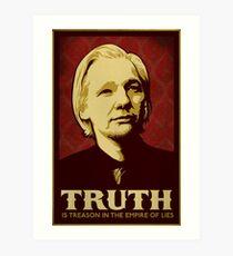 Julian Assange Truth Is Treason Art Print