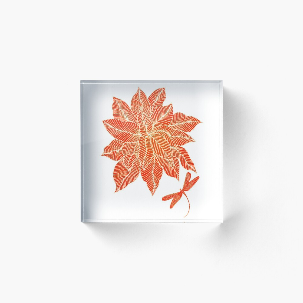 Sunburst Acrylic Block