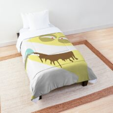 Cheese Drinking Milk - Fosters Home For Imaginary Friends - Funny Character Comforter