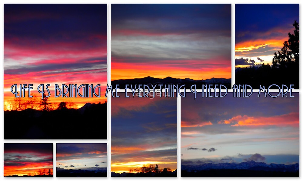 Life is bringing me everything I need and more featured in Inspirational Greeting Cards by ©The Creative  Minds