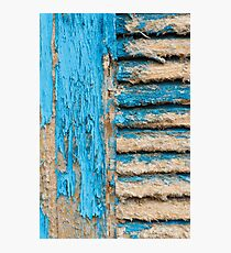 Old Blue Shutter I Photographic Print