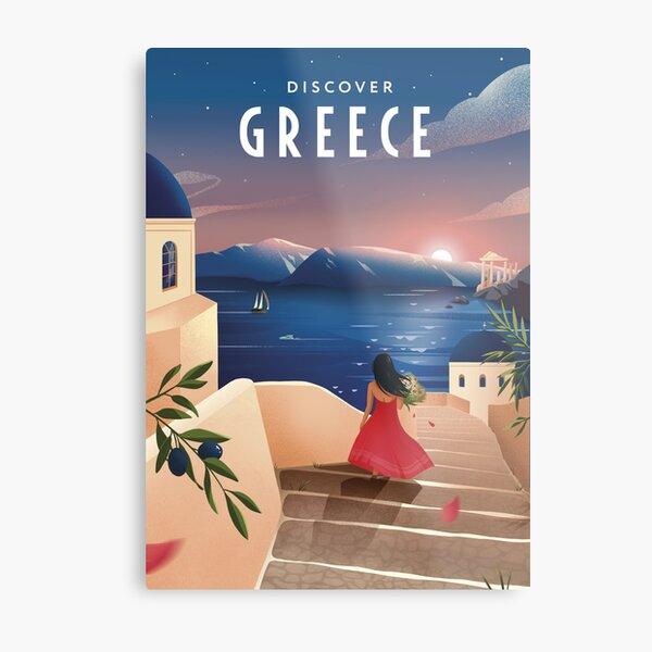 Discover Greece (evening) Metal Print
