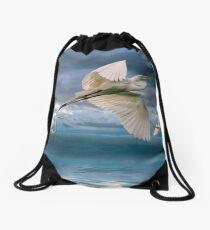 Night Flight Drawstring Bag