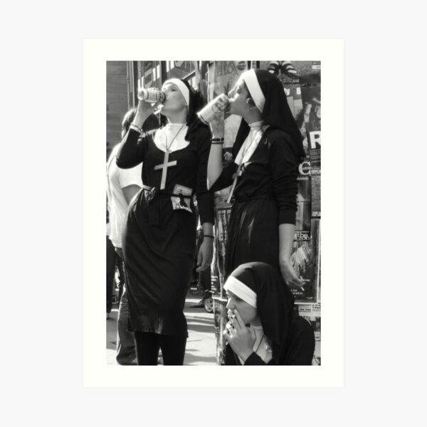 Nuns Drinking Art Print