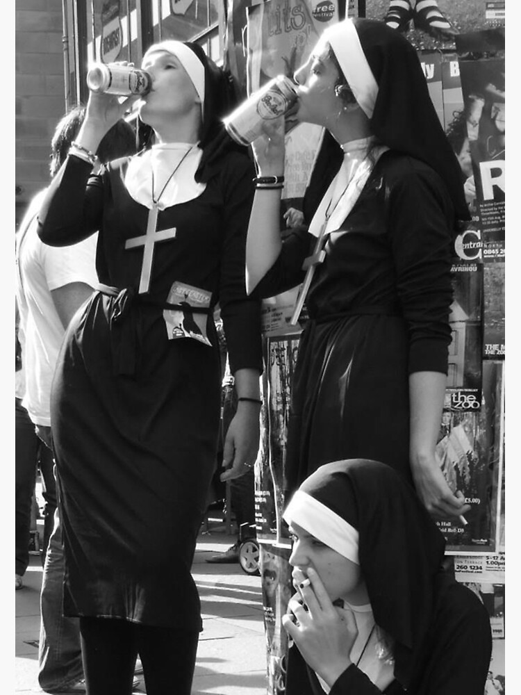 Nuns Drinking by crumpetstrumpet
