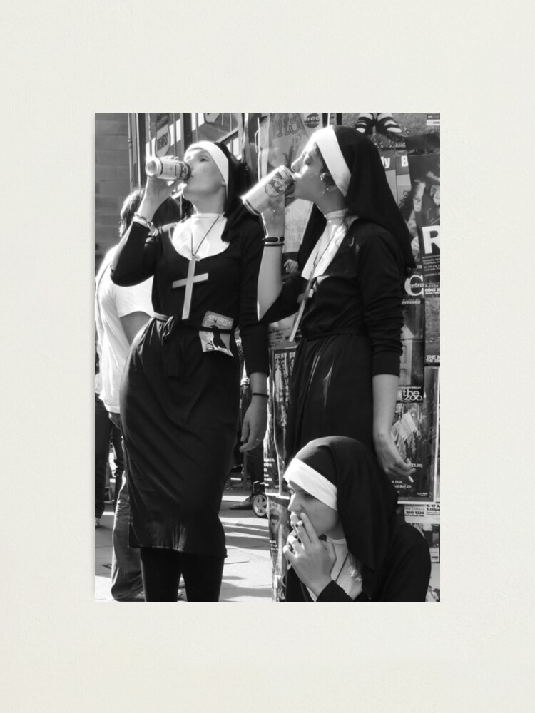 Alternate view of Nuns Drinking Photographic Print