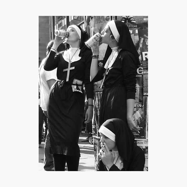 Nuns Drinking Photographic Print