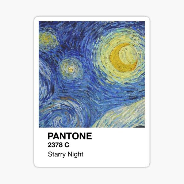 Noche estrellada de Pantone Pegatina