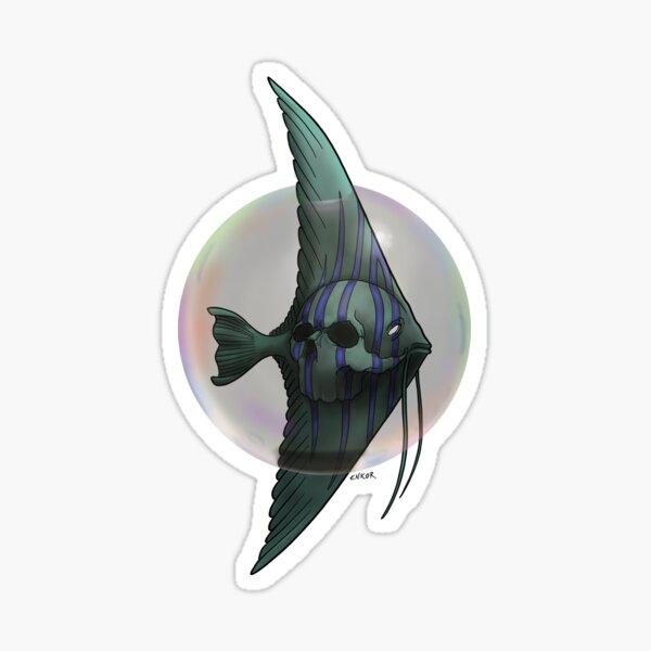 Bubble skull Sticker